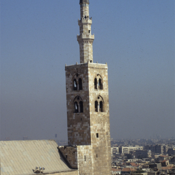 General exterior view of great Umayyad Mosque