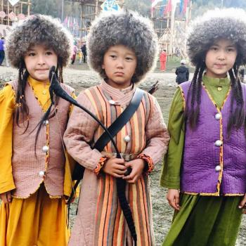 Children in national clothing, World Nomad Games