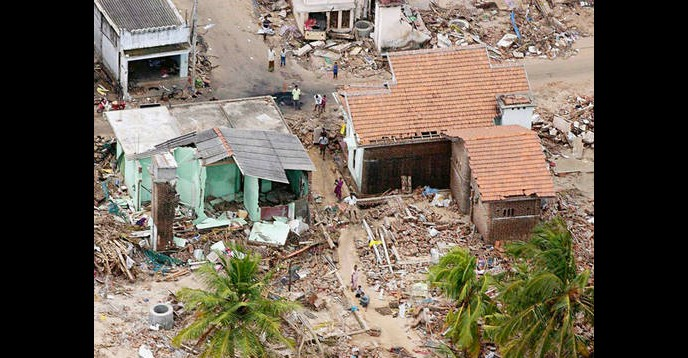Sri Lanka after the tsunami in December 2004