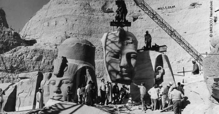 """La idea de crear un patrimonio cultural mundial de la humanidad tuvo su origen en la famosa """"Campaña de Nubia"""", coordinada por la UNESCO en el periodo 1960 - 1980."""