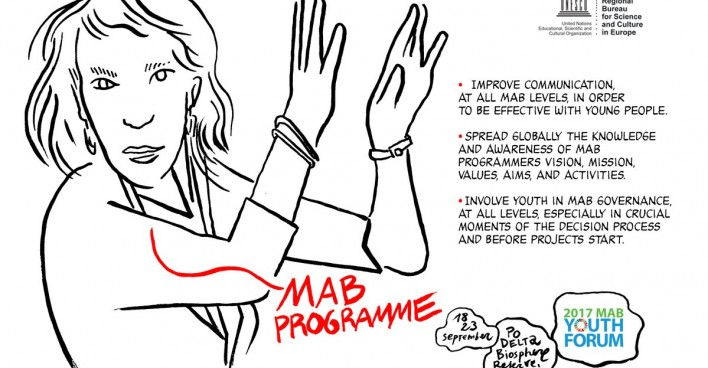 © Gianluca Costantini, MAB Youth Forum declaration